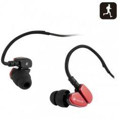 NGS Auricular Camaleon Waterproof Rojo Sports Headphones, Over Ear Headphones, Red, Image Link, Running, Fitness, Racing, Keep Running, Track