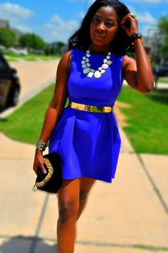 Cobalt blue!   need a gold belt in my closet