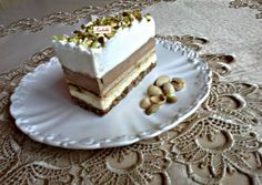 Isteni szelet recept foto Hungarian Cake, Hungarian Recipes, Czech Desserts, Cake Bars, Pastry Cake, Eclairs, 20 Min, Vanilla Cake, Deserts