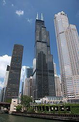 The Sky Deck on the 103rd floor of the Sears Tower (Willis Tower) Chicago, Illinois