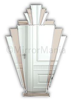 Babushka Original Handcrafted Art Deco Fan Bronze Mirror