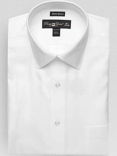 Check this out! Pronto Uomo White Modern Fit Non-Iron Dress Shirt from MensWearhouse. #MensWearhouse