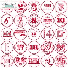 AND these will be the numbers in my JYC!!! - Webster's Pages Presents!! It's Christmas by Allison Kreft!
