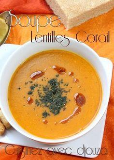 Une soupe de lentilles corail rassasiante. La lentille corail donne un bel aspect orangé qui la rend appétissante. La soupe de lentille corail ou velouté turc