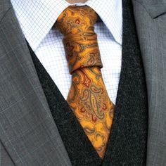 The Merovingian Wrap. Cool Tie Knots, Cool Ties, Tie Knot Styles, Fancy Tie, Tie A Necktie, Groom And Groomsmen, Well Dressed Men, Gentleman Style, Men Dress