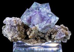 Phantom Fluorite on Matrix Fine Mineral Specimen from Yaogangxian Mine, China