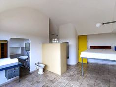 Le Corbusier's apartment - design studio: bedroom and bathroom    #designbest  