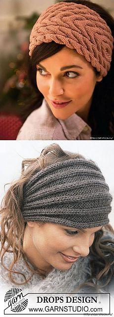 Как связать повязку на голову спицами