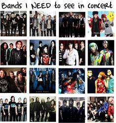 """""""Bands I NEED To See In Concert"""". Except for Blood On The Dance Floor .Especially not BOTDF."""