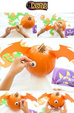 This Halloween get crafty and create an awesome monster pumpkin with Pumpkin Masters- no carving required!