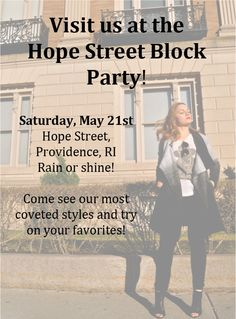 Everscollective boutique will be at the Providence, RI annual Hope Street Block Party!  Come see us from 12-6 on Saturday, May 21st!  Enjoy live music, food and drink, all while you shop our latest styles and best sellers! Plus, we accept all major credit cards!!  For questions, please contact us at everscollective@gmail.com  Www.everscollective.com