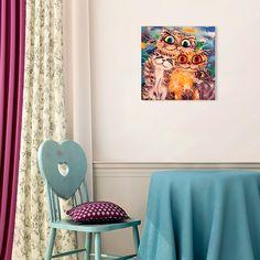"Картина 48 х 48 см ""Коты"" (декоративное стекло) 949 руб. Ссылка для заказа: http://decoretto.ru/art/glass/kartina-48-h-48-sm-kotyi-dekorativnoe-steklo/"