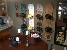 snowboard wall mounts