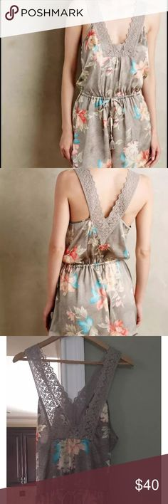 Anthropologie romper size Large only worn once! Anthropologie romper size Large only worn once!   Material is so comfy Anthropologie Dresses
