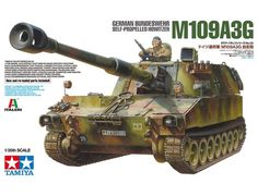Tamiya German Bundeswehr Self-Propelled Howitzer Jaz Hobby). Tamiya German Bundeswehr Self-Propelled Howitzer - Special feature 2 Tamiya marking options and a new Tamiya instruction manual are included. Tamiya Model Kits, Tamiya Models, M109, Self Propelled Artillery, Airfix Kits, Tiger Tank, Mighty Ape, Model Building Kits, Military Modelling