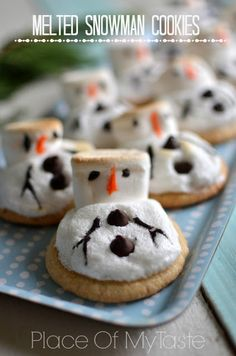 Melted Snowman Cookies at PlaceOfMyTaste