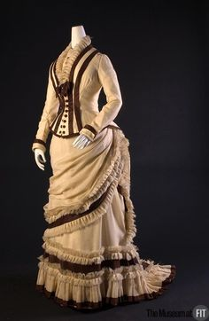 "fashionsfromhistory: "" Afternoon Dress c.1880 United States Museum at FIT """