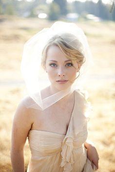 perfect wedding veil and hair