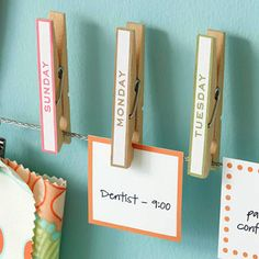 Stay on top of your week with this DIY clothespin calendar by the inspired room!