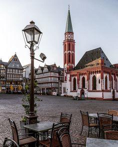 Frankfurt, Germany - The Old St Nicholas Church (German: Alte Nikolaikirche) at Römerberg.