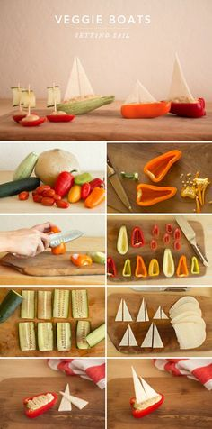DIY Tutorial: Veggie Boats, Nautical Part Food - Concept + Photos + Styling by Alexis Birkmeyer