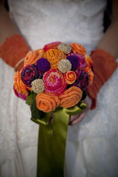 Unique Hand Crafted Crocheted Wedding Bouquet