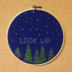 Starry night embroidery hoop art 7 hand by TheBeefyChicken on Etsy