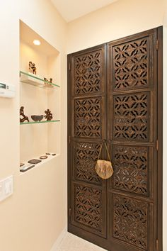 Intricately Carved Door Apartment Front Doors Interior Ideas