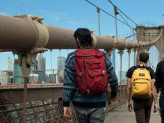 from JanSport Live Outside BK Edition City Scene, Jansport, School Backpacks, Brooklyn Bridge, The Outsiders, Live, Manhattan, Style, School Bags