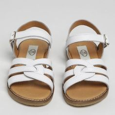 Cecile is a white leather sandal with plenty of support for young girls. Enough coverage at the front of the foot make it a very comfortable everyday summer sandal. The buckle strap around the ankle allows for width fitting. Gladiator Sandals, Leather Sandals, Shoes Sandals, Girls Wedding Shoes, Parsons Green, Summer Girls, Summer Shoes, White Leather, Ankle