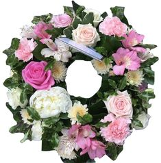 Funeral Wreath Pink