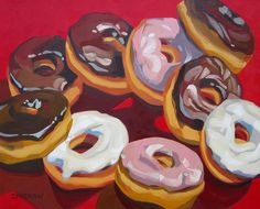 Donuts 18x24 by Leigh-Anne Eagerton, painting, via Flickr