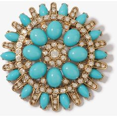 FOREVER 21 Rhinestoned Color Burst Pin ($7.80) ❤ liked on Polyvore