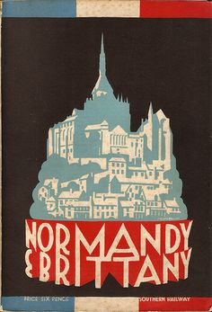 """""""Normandy & Brittany"""" - Southern Railway booklet, 1930"""
