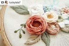 "2,591 Likes, 15 Comments - Babi Bernardes (@bordados_e_bordadeiras) on Instagram: ""@luckylala7 #handembroidery #needlework #broderie #ricamo #bordado #embroidery"""