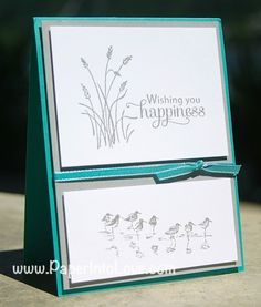 Stampin Up Wetlands Happiness 3 Masculine Birthday Cards, Birthday Cards For Men, Masculine Cards, Male Birthday, Wetlands Stampin Up, Stamping Up Cards, Bird Cards, Fall Cards, Sympathy Cards