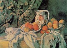 "Paul CEZANNE ""Nature morte au rideau"""