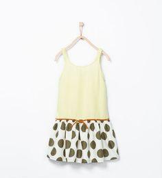 Bild 1 von Mustermix-Kleid mit Gürtel von Zara