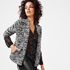 This textured blazer is the ultimate statement piece. Style it with some jeans and heels for both dressy and casual days. Work Fashion, Commercial, Spring Summer, Bright, Blazer, Texture, Lifestyle, Long Sleeve, Casual