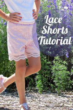 Make your own Lace Shorts...for girls and women both! | via Make It and Love It