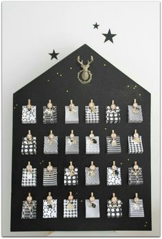 Advent calendar chic (and graphic) Christmas Trees For Kids, Pink Christmas Decorations, Christmas Crafts For Adults, Noel Christmas, Diy Christmas Gifts, Simple Christmas, Xmas, Advent Calenders, Diy Advent Calendar