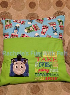 Check out this item in my Etsy shop https://www.etsy.com/listing/533305974/thomas-reading-pocket-pillow-pillow-case