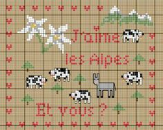 France - country - les alpes - point de croix - cross stitch - Blog : http://broderiemimie44.canalblog.com/