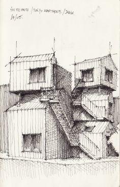 Croquis - Apartamentos Fujimoto - por Facundo Alvarez