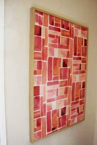 Fabric-Abstract-Art Diy Abstract Art Ideas
