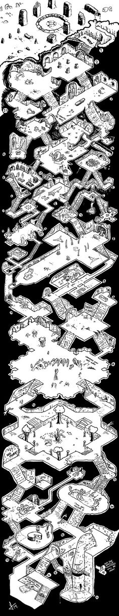 Tower of Down by Lukc on deviantART.  This is THE BEST map I have ever seen.