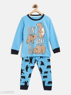 Nightsuits  Fancy Cotton Blend Printed Night Suit Fabric: Top - Cotton Blend  Pant - Cotton Blend Sleeves: Sleeves Are Included Neck: Round Neck Size: Age Group (1 - 2 Years) - 18 in Age Group (2 - 3 Years) - 20 in Age Group (3 - 4 Years) - 22 in Age Group (4 - 5 Years) - 24 in Age Group (5 - 6 Years) - 26 in Age Group (6 - 7 Years) - 28 in Age Group (7 - 8 Years) - 30 in Type: Stitched Description: It Has 1 Piece Of Girl's Top & 1 Piece Of Pant Work: Top - Printed  Pant - Printed Country of Origin: India Sizes Available: 2-3 Years, 3-4 Years, 4-5 Years, 5-6 Years, 6-7 Years, 7-8 Years, 1-2 Years   Catalog Rating: ★4.3 (916)  Catalog Name: Girl's Fancy Cotton Blend Printed Night Suits Vol 1 CatalogID_438294 C62-SC1158 Code: 592-3187191-