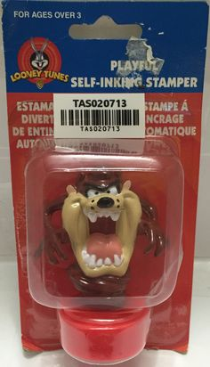 (TAS020713) - 1998 Looney Tunes Playful Self-Inking Stamper Tazmanian Devil