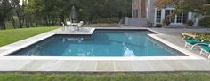 pool coping ideas | Gray waterline tiles and coping | Pool ideas