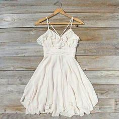 Spool72 white ruffle dress